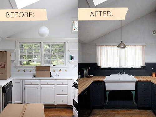 This photo from Designsponge shows a great before and after shot