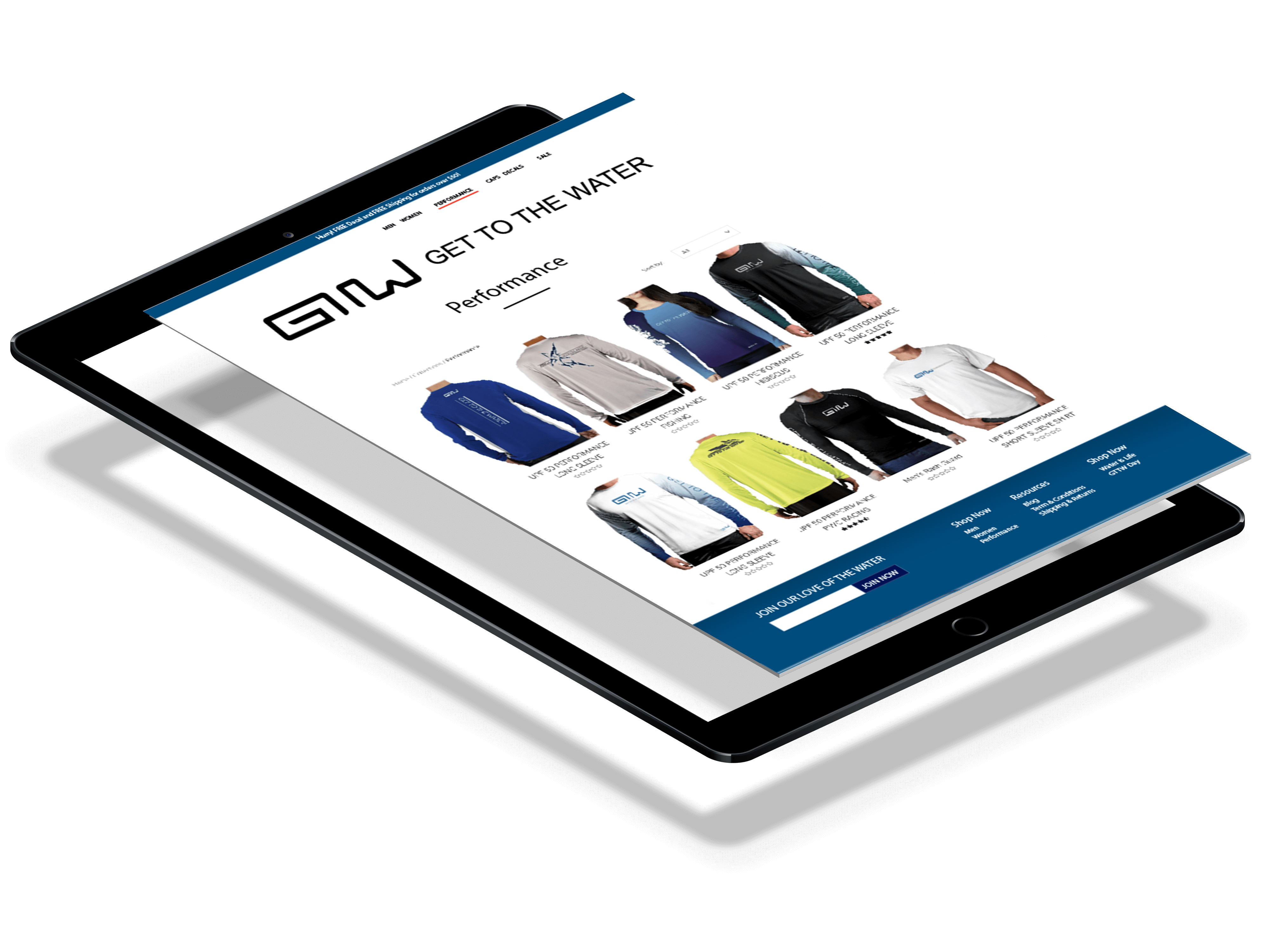 Ecommerce design for products
